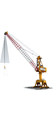 Loadview lattice harbour crane